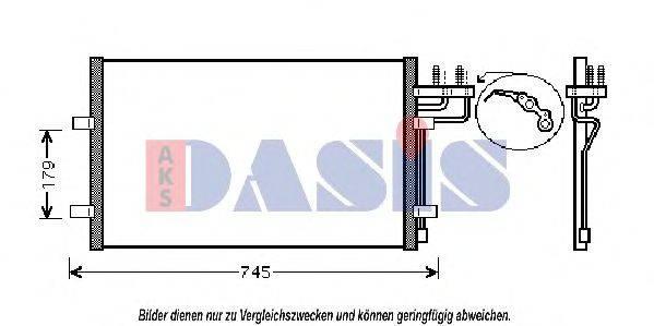 AKS DASIS 092007N Конденсатор, кондиционер