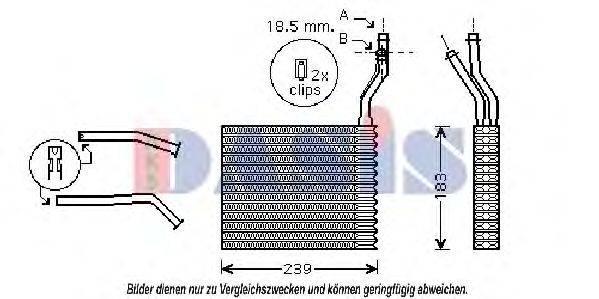 AKS DASIS 096007N Теплообменник, отопление салона