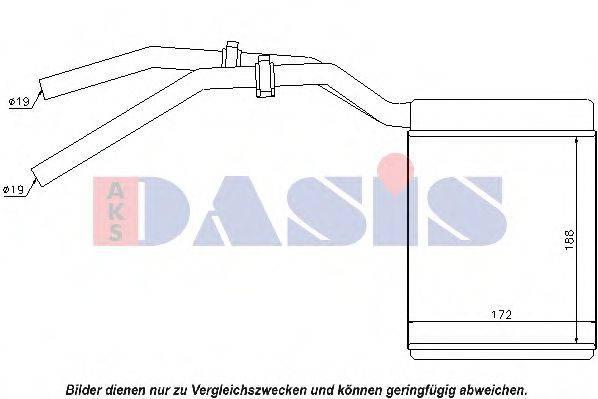 AKS DASIS 099019N Теплообменник, отопление салона