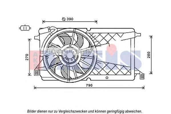 AKS DASIS 098129N Вентилятор, охлаждение двигателя