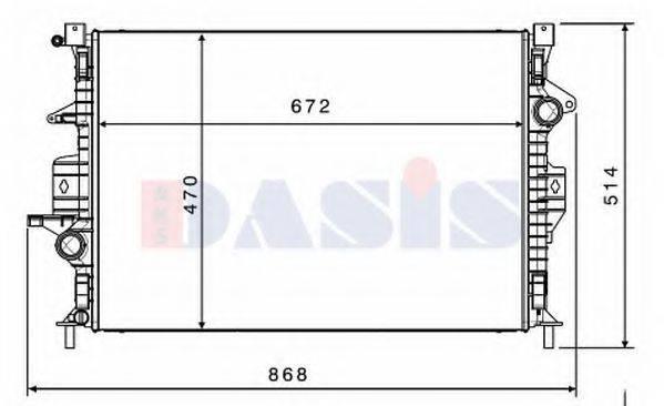 Радиатор, охлаждение двигателя AKS DASIS 220026N