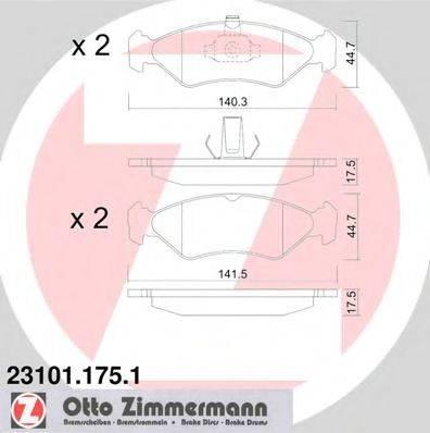 ZIMMERMANN 231011751 Комплект тормозных колодок, дисковый тормоз