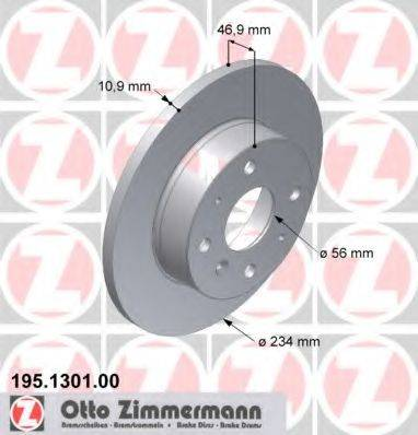 ZIMMERMANN 195130100 Тормозной диск