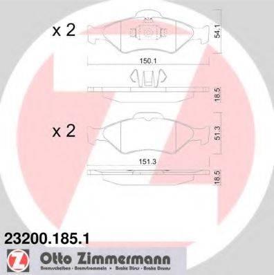 ZIMMERMANN 232001851 Комплект тормозных колодок, дисковый тормоз