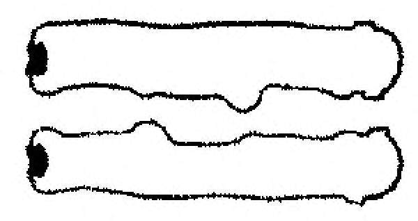 Комплект прокладок, крышка головки цилиндра GLASER V36717-00