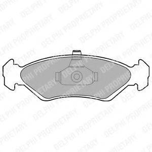DELPHI LP1603 Комплект тормозных колодок, дисковый тормоз