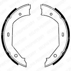 DELPHI LS1857 Комплект тормозных колодок, стояночная тормозная система