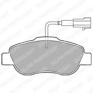 DELPHI LP2014 Комплект тормозных колодок, дисковый тормоз