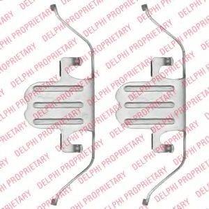 DELPHI LX0494 Комплектующие, колодки дискового тормоза