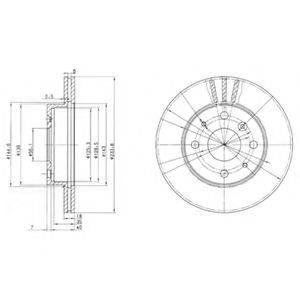 DELPHI BG2656 Тормозной диск
