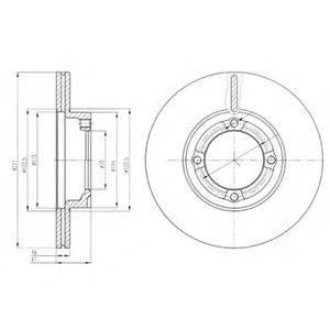 DELPHI BG3220 Тормозной диск