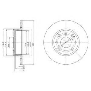 DELPHI BG2535 Тормозной диск