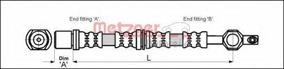 METZGER 4112213 Тормозной шланг