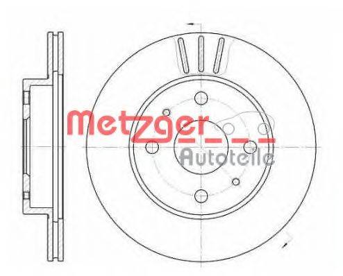 METZGER 6110317 Тормозной диск