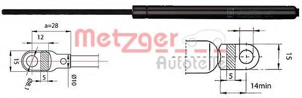 METZGER 2110283 Газовая пружина, крышка багажник