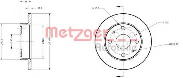 METZGER 6110214 Тормозной диск