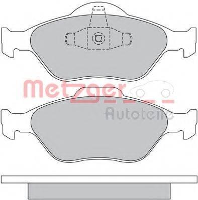 METZGER 1170045 Комплект тормозных колодок, дисковый тормоз