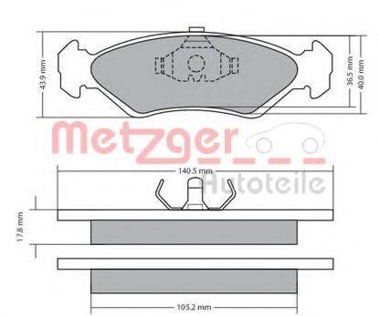 METZGER 1170181 Комплект тормозных колодок, дисковый тормоз