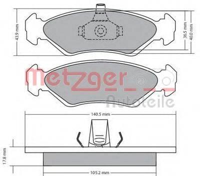 METZGER 1170182 Комплект тормозных колодок, дисковый тормоз