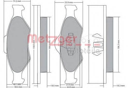 METZGER 1170188 Комплект тормозных колодок, дисковый тормоз