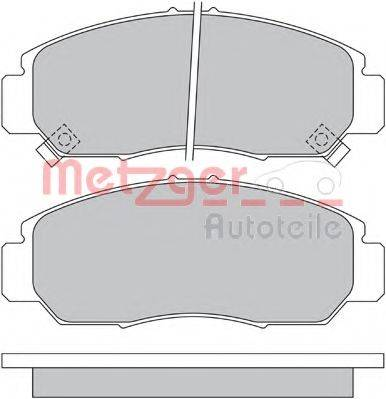 METZGER 1170536 Комплект тормозных колодок, дисковый тормоз