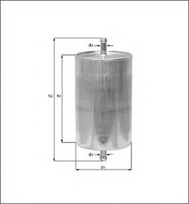 MAGNETI MARELLI 154076376550 Топливный фильтр