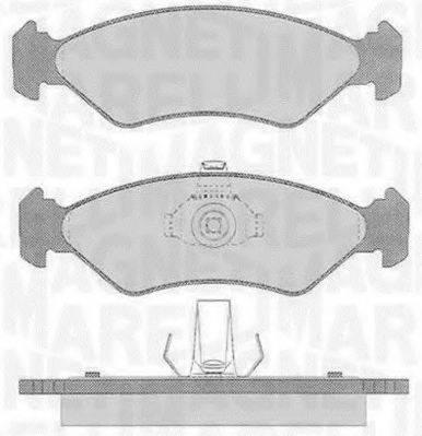 MAGNETI MARELLI 363916060250 Комплект тормозных колодок, дисковый тормоз